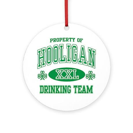 Hooligan Irish Drinking Team Ornament (Round)