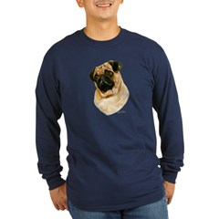 Pug Long Sleeve Dark T-Shirt