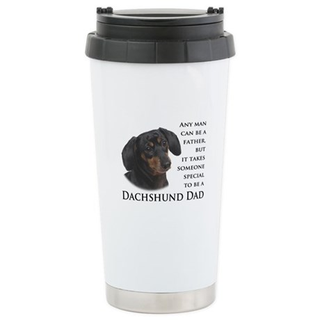 Dachshund Dad Stainless Steel Travel Mug
