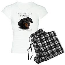 God Created Dachshunds Pajamas