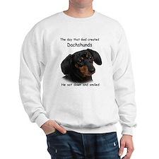God Created Dachshunds Sweatshirt