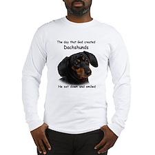 God Created Dachshunds Long Sleeve T-Shirt