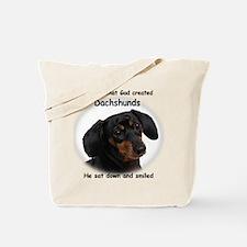 God Created Dachshunds Tote Bag
