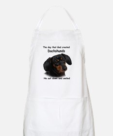 God Created Dachshunds Apron