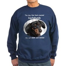 God Created Dachshunds Sweatshirt