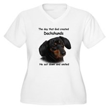 God Created Dachshunds T-Shirt