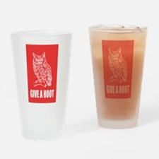 Give a Hoot Drinking Glass