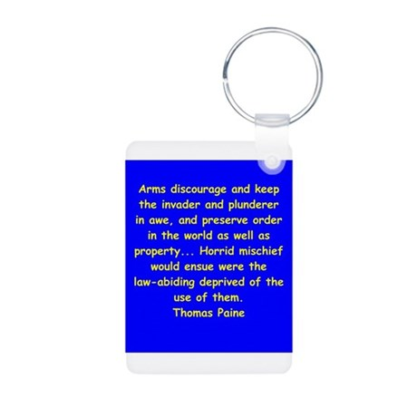 thomas paine Aluminum Photo Keychain