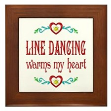 Line Dancing Warms Hearts Framed Tile