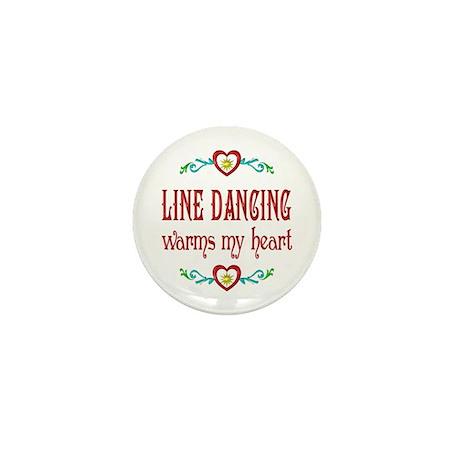 Line Dancing Warms Hearts Mini Button