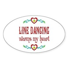 Line Dancing Warms Hearts Decal