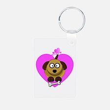Valentines Puppy Love Keychains