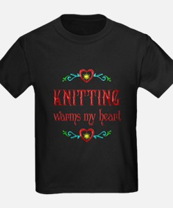 Knitting Warms My Heart T