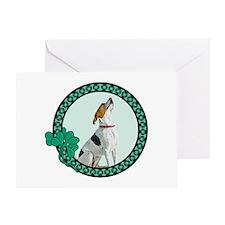 Irish Pride Foxhound Greeting Card