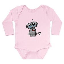 love sucks heartbreak robot Long Sleeve Infant Bod