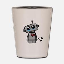 love sucks heartbreak robot Shot Glass