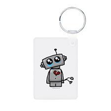 love sucks heartbreak robot Keychains