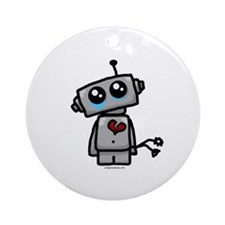 love sucks heartbreak robot Ornament (Round)