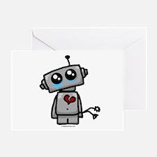 love sucks heartbreak robot Greeting Card