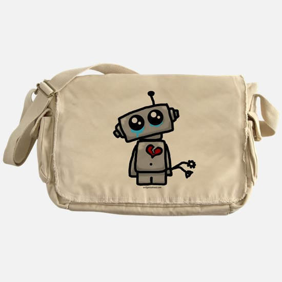 love sucks heartbreak robot Messenger Bag