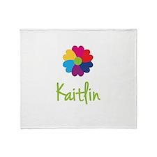 Kaitlin Valentine Flower Throw Blanket