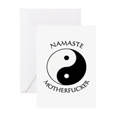 Namaste Motherfucker 3.pptx Greeting Cards