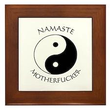 Unique Namaste Framed Tile