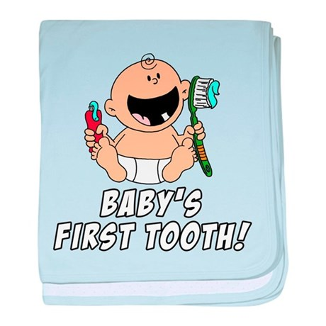 Baby 39 s first tooth baby blanket by birthdaypresents for Baby first tooth decoration