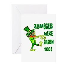 Zombies Were Irish Too Greeting Cards (Pk of 10)