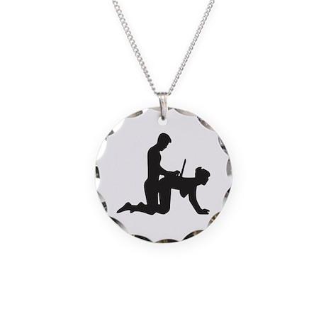 WFH Necklace Circle Charm