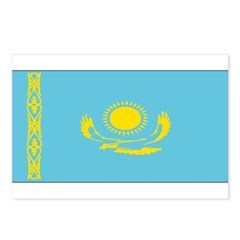 Borat Country Kazakhstan Flag Postcards (Package o