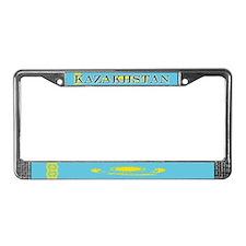 Borat Country Kazakhstan Flag License Plate Frame
