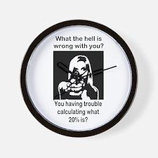 20 percent Wall Clock