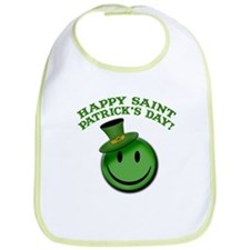 St. Patrick's Day Happy Face Bib