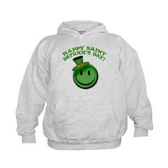 St. Patrick's Day Happy Face Hoodie