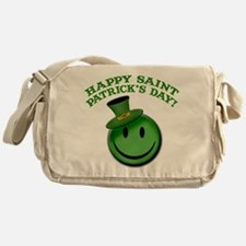 St. Patrick's Day Happy Face Messenger Bag