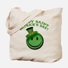 St. Patrick's Day Happy Face Tote Bag