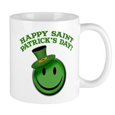 St. Patrick's Day Happy Face Mug