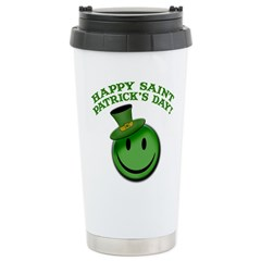 St. Patrick's Day Happy Face Travel Mug