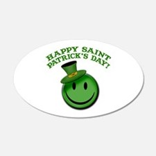 St. Patrick's Day Happy Face Wall Decal