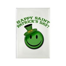 St. Patrick's Day Happy Face Rectangle Magnet