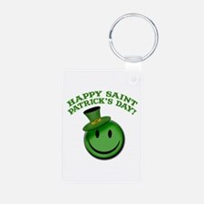 St. Patrick's Day Happy Face Keychains