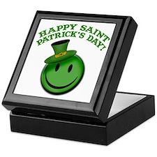 St. Patrick's Day Happy Face Keepsake Box