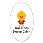 Year of the Dragon Chick Sticker (Oval 10 pk)