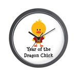 Year of the Dragon Chick Wall Clock
