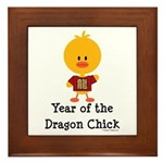 Year of the Dragon Chick Framed Tile