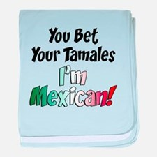 Bet Your Tamales Mexican baby blanket