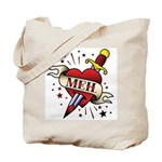 Meh Tattoo Tote Bag