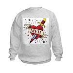 Meh Tattoo Kids Sweatshirt