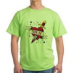 Meh Tattoo Green T-Shirt